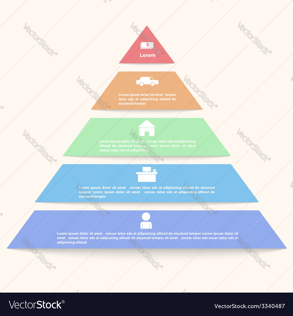 Pyramid infographic template vector | Price: 1 Credit (USD $1)