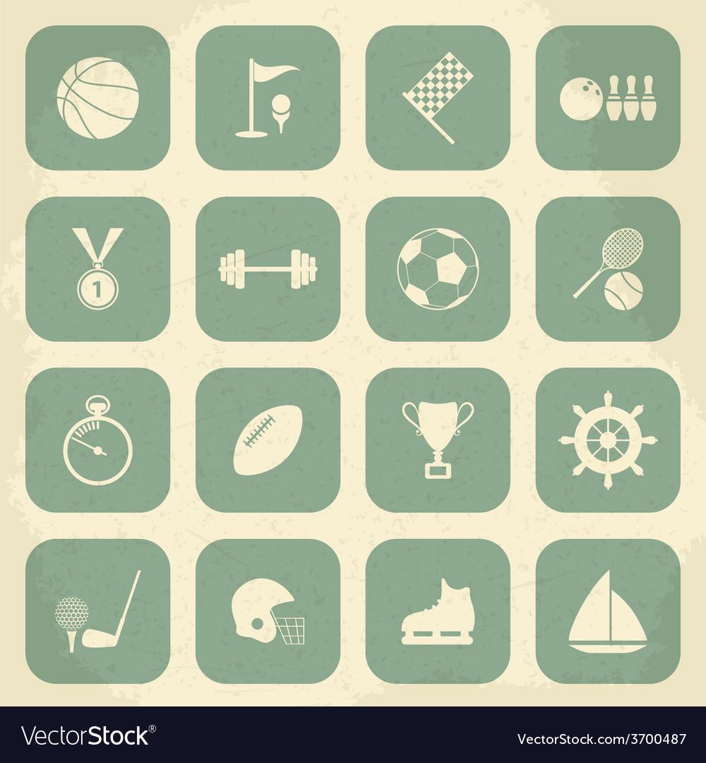Retro sports icons vector   Price: 1 Credit (USD $1)