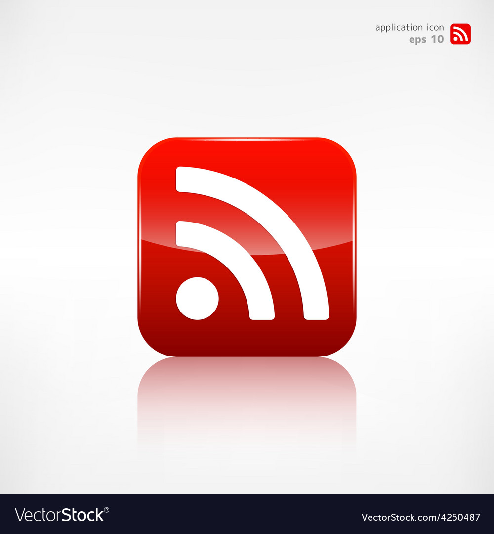 Rss icon news symbol vector | Price: 1 Credit (USD $1)