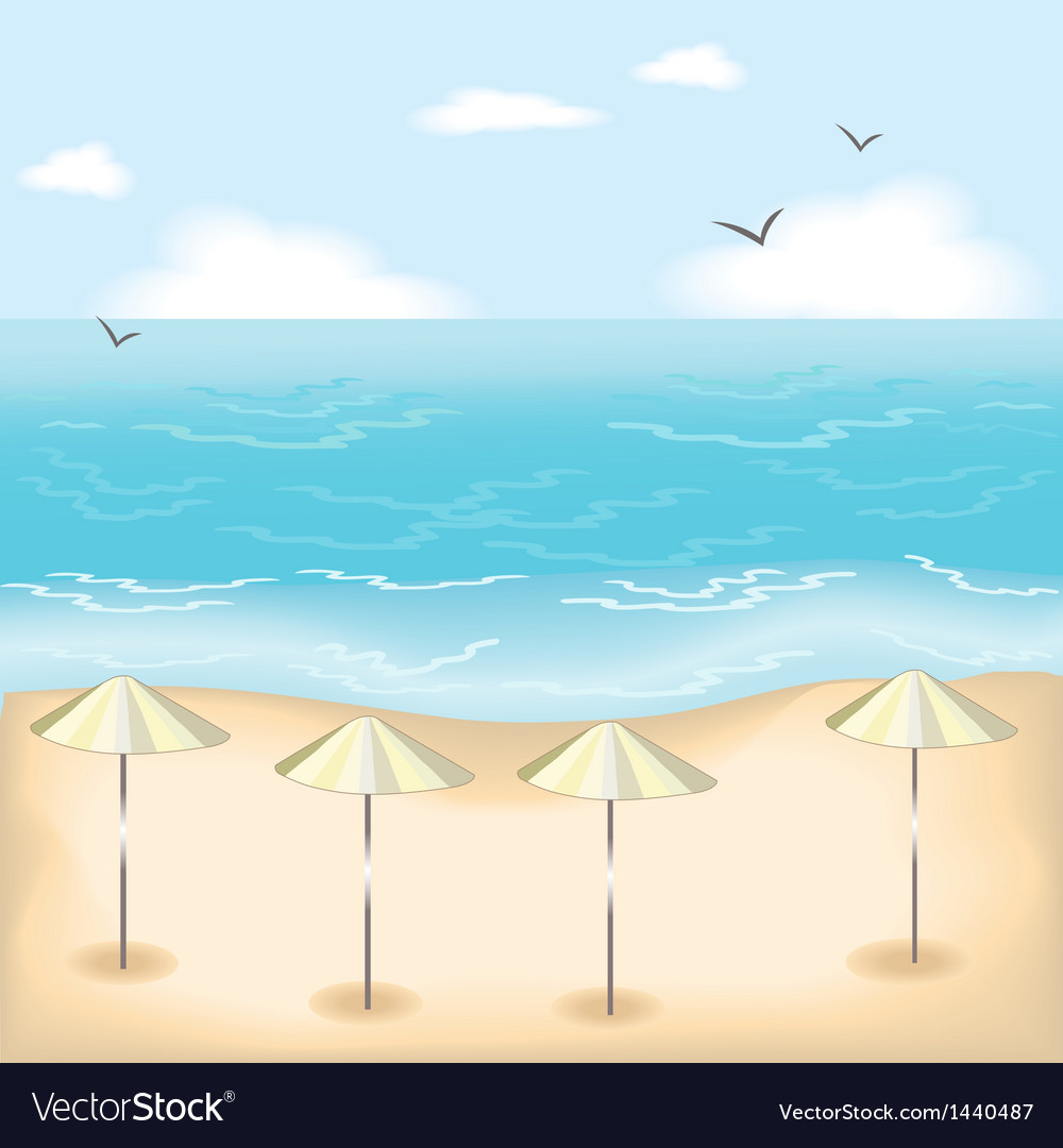 Sandy beach vector | Price: 1 Credit (USD $1)