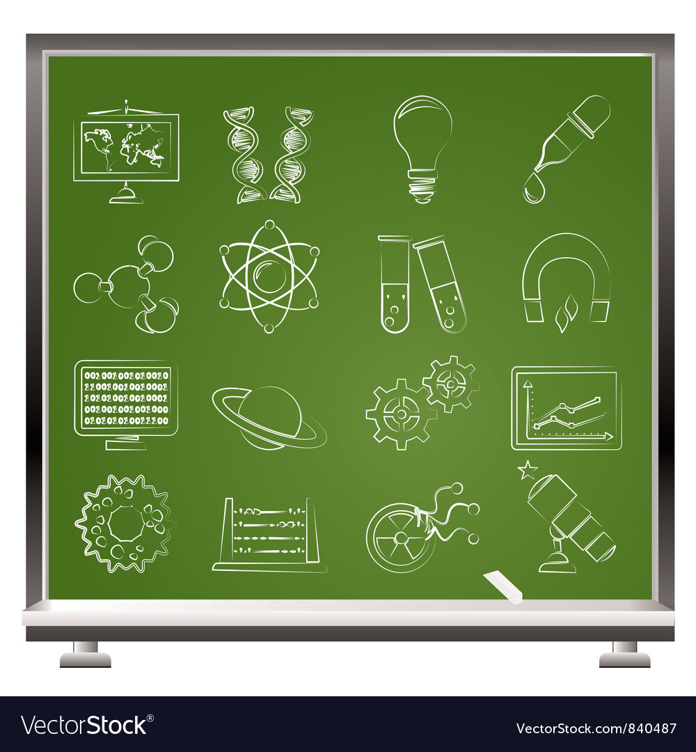 Science and education icons vector | Price: 1 Credit (USD $1)
