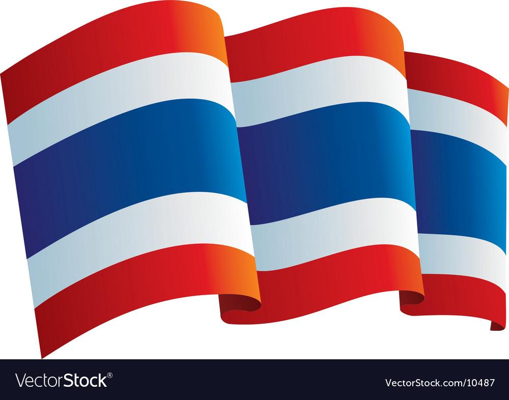 Thailand flag vector | Price: 1 Credit (USD $1)