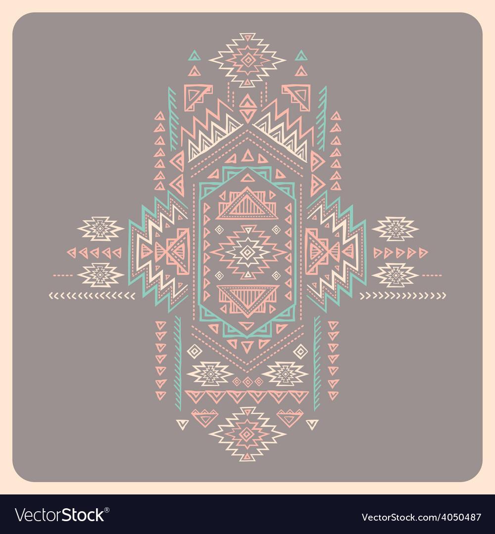 Tribal vintage ethnic background vector   Price: 1 Credit (USD $1)