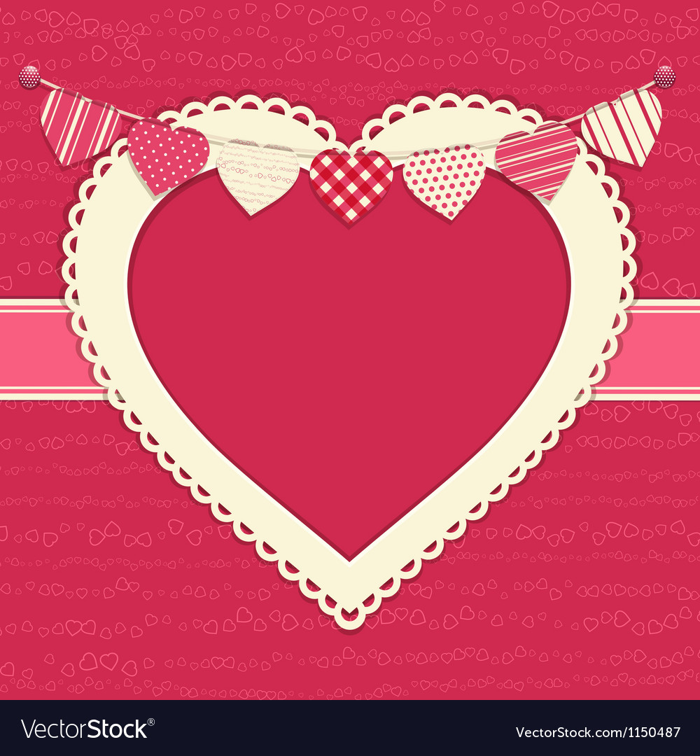 Valentine and heart bunting background vector | Price: 1 Credit (USD $1)
