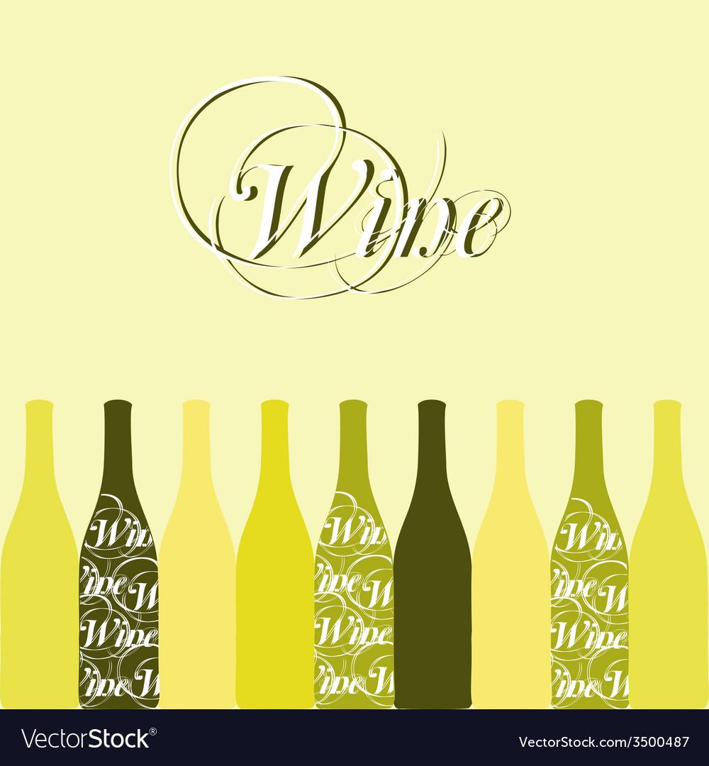 Wine or vinegar bottles vector   Price: 1 Credit (USD $1)