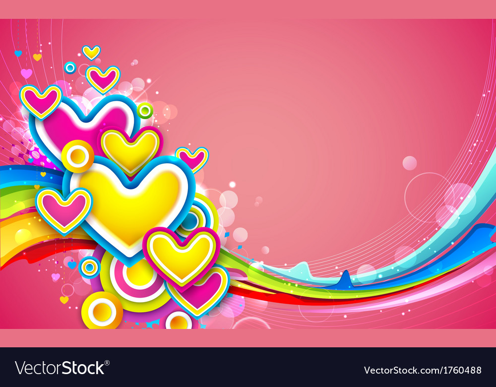 Colorful heart vector | Price: 1 Credit (USD $1)