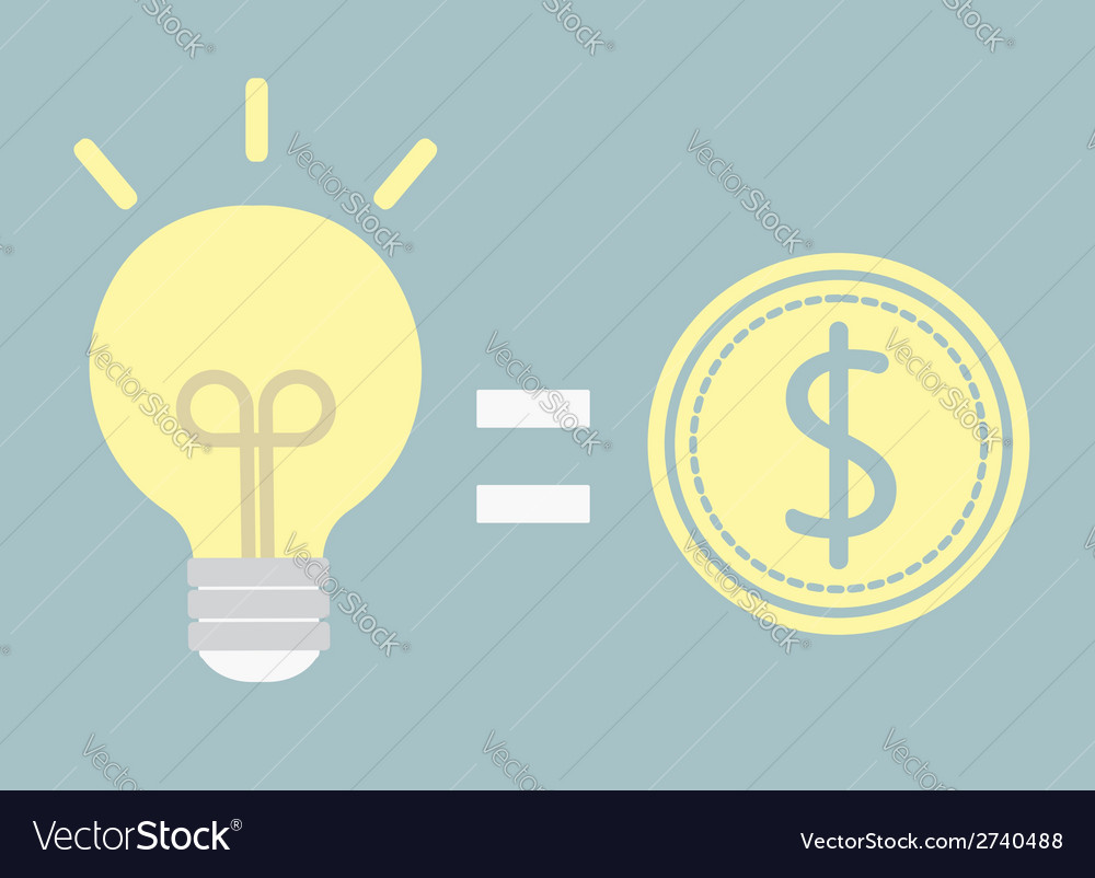 Good idea for money vector | Price: 1 Credit (USD $1)