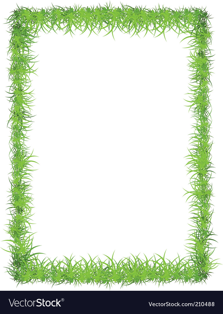 Grass frame vector | Price: 1 Credit (USD $1)