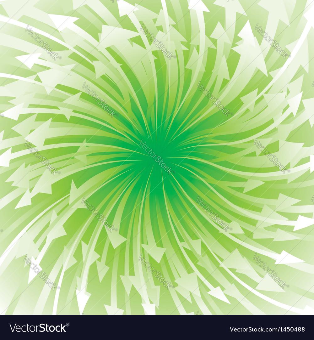 Green arrow flowing vector | Price: 1 Credit (USD $1)