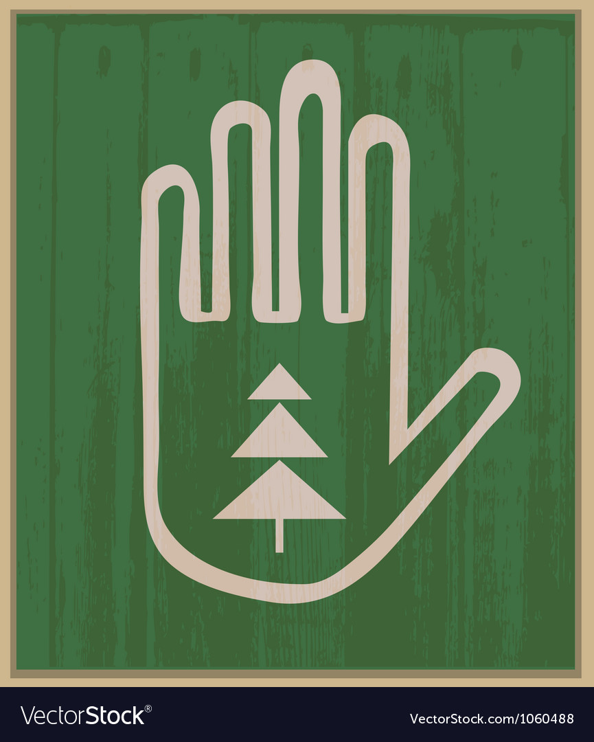 Hand and spruce vector | Price: 1 Credit (USD $1)