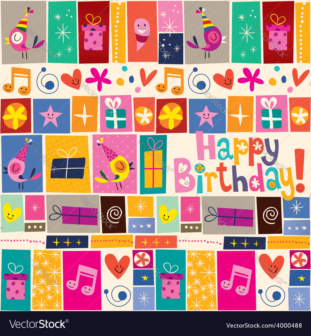 Happy birthday pattern 4 vector | Price: 1 Credit (USD $1)