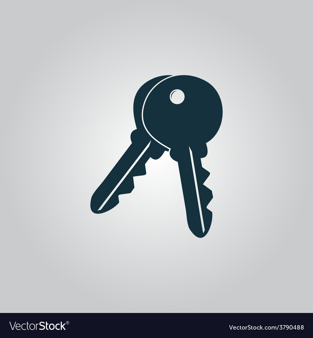 Keys sign icon unlock tool button vector | Price: 1 Credit (USD $1)