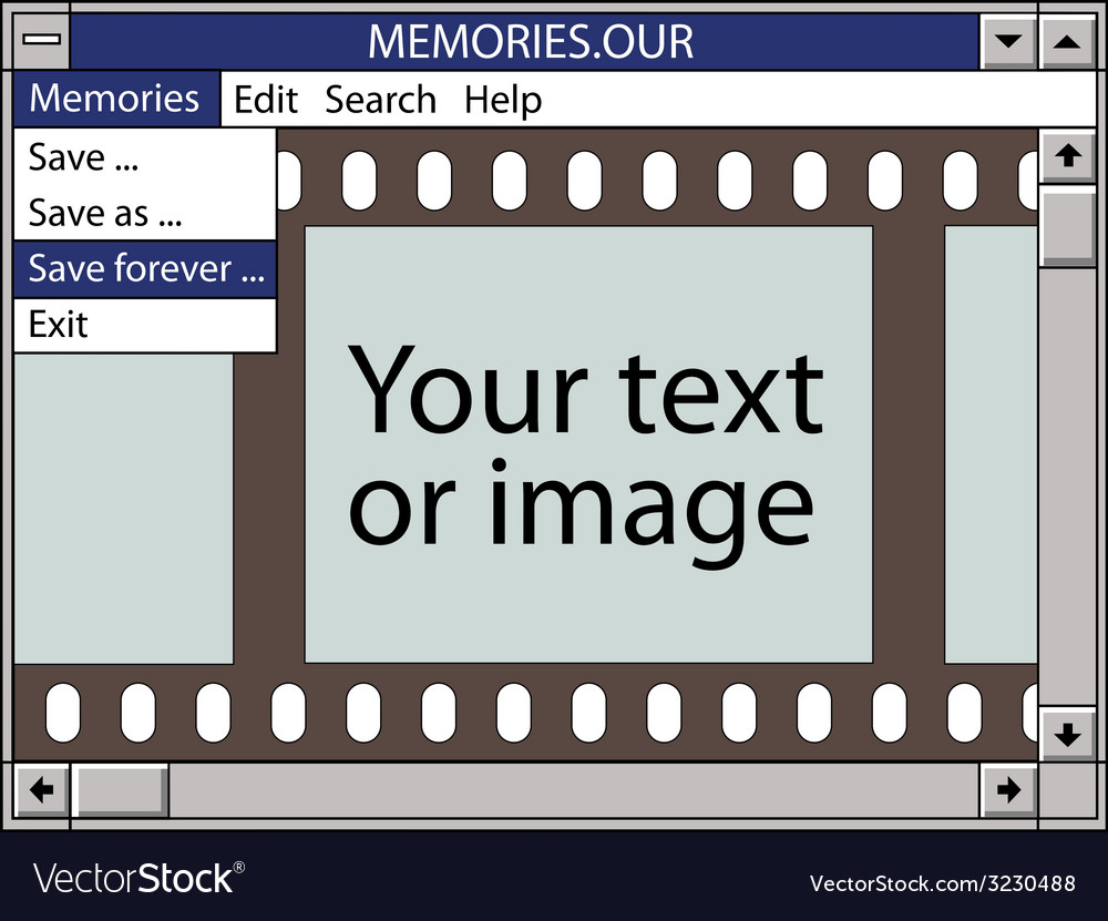 Our memories save forever vector   Price: 1 Credit (USD $1)