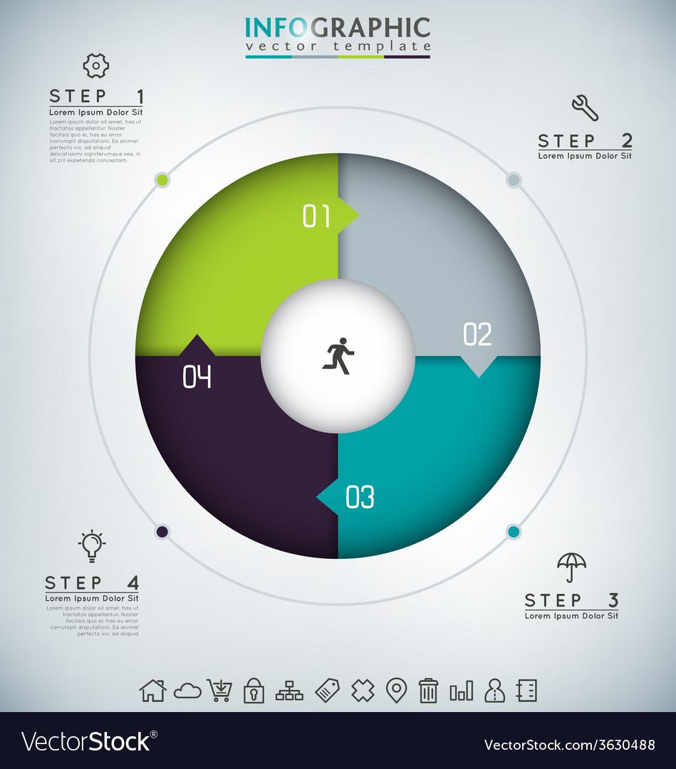 Round infographic vector | Price: 1 Credit (USD $1)
