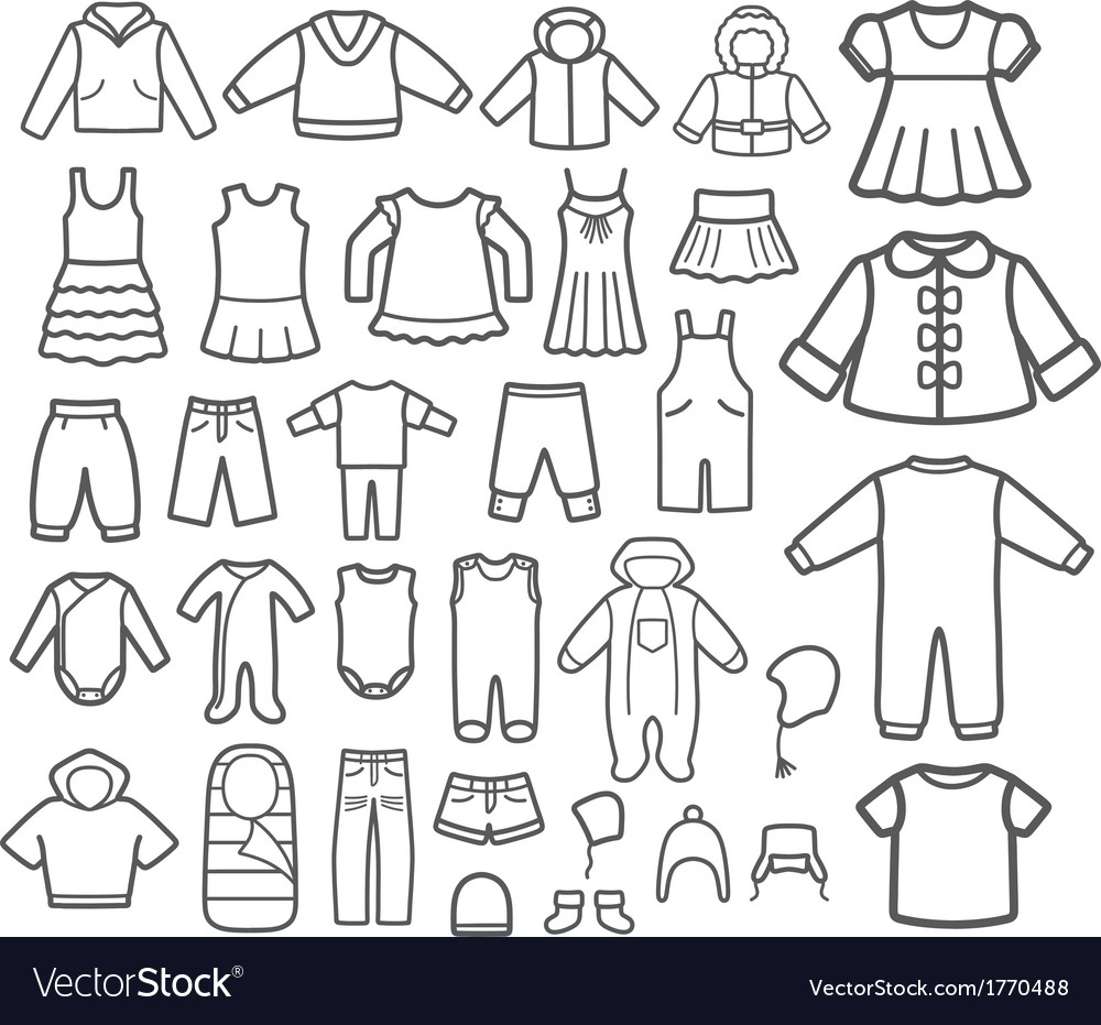 Set of children clothing vector | Price: 1 Credit (USD $1)