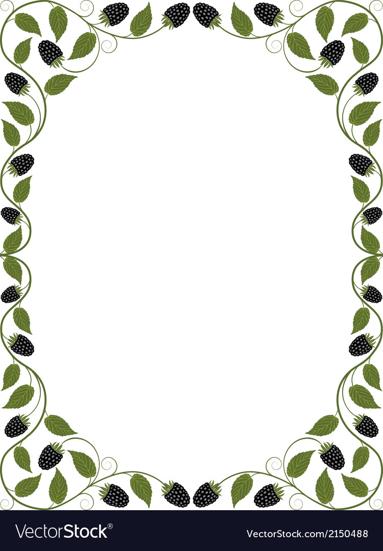 Vintage floral frame vector | Price: 1 Credit (USD $1)