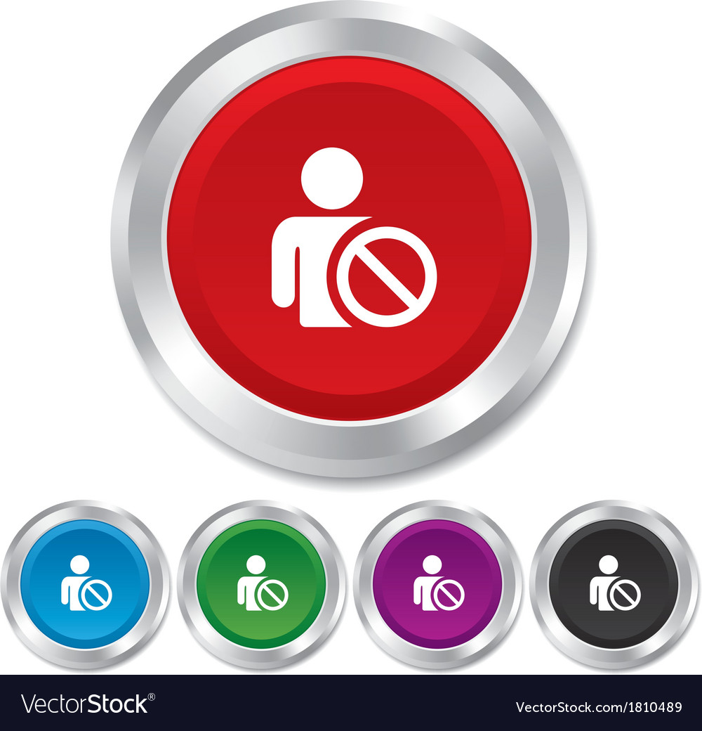 Blacklist sign icon user not allowed symbol vector | Price: 1 Credit (USD $1)