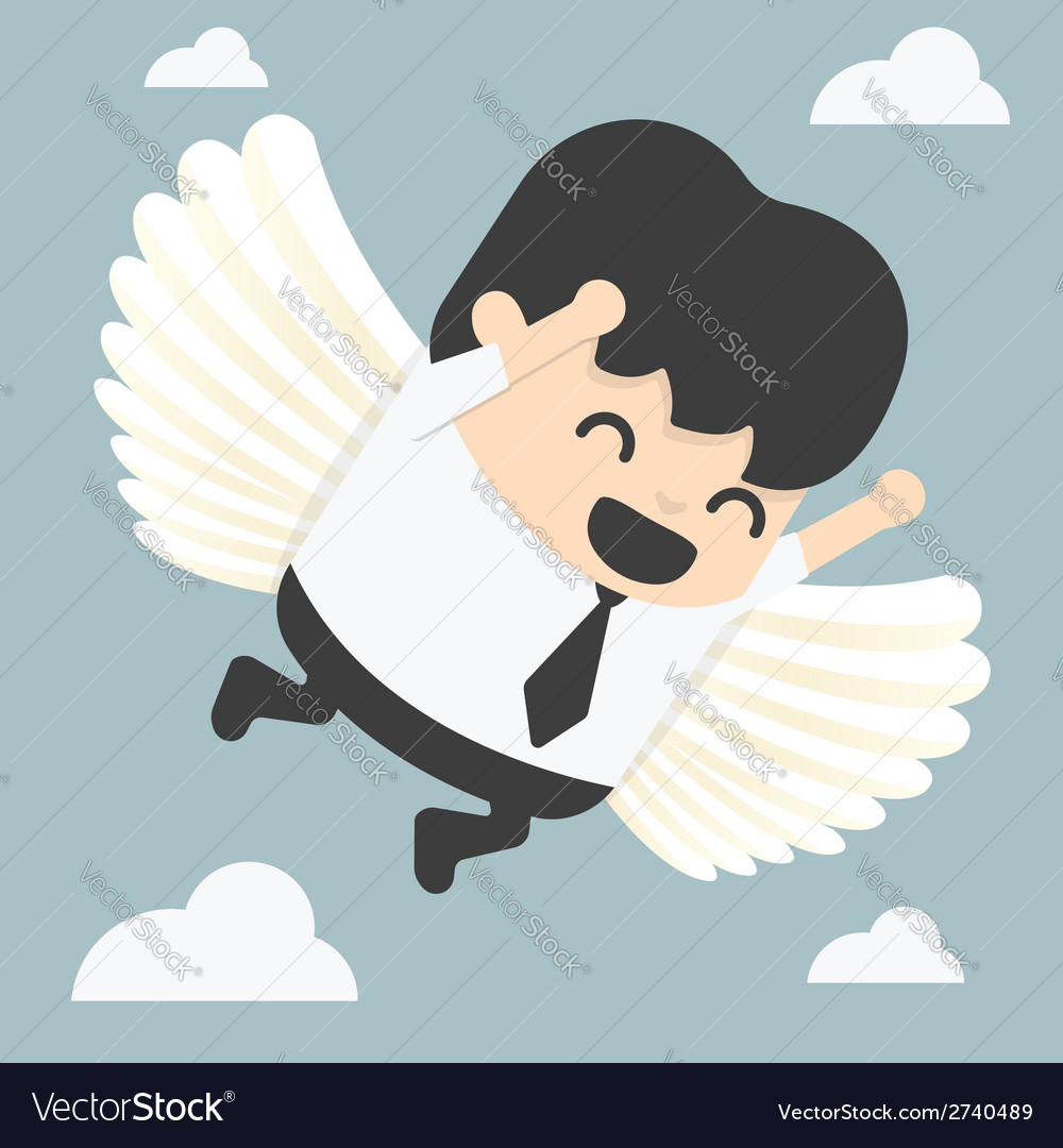 Businessman flying freedom vector | Price: 1 Credit (USD $1)