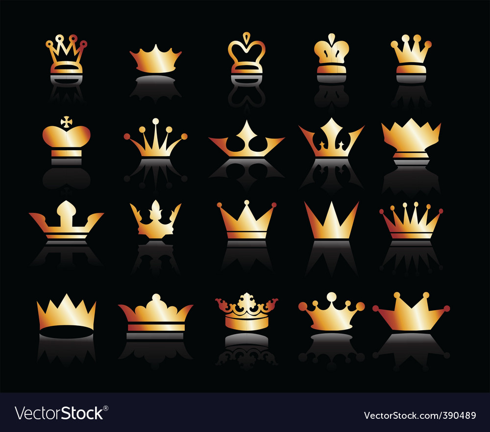 Crown icons vector | Price: 1 Credit (USD $1)