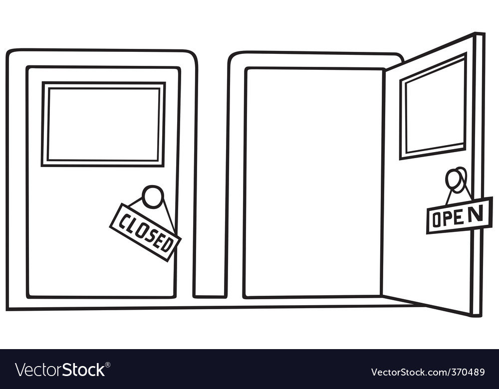 Door open and close vector | Price: 1 Credit (USD $1)