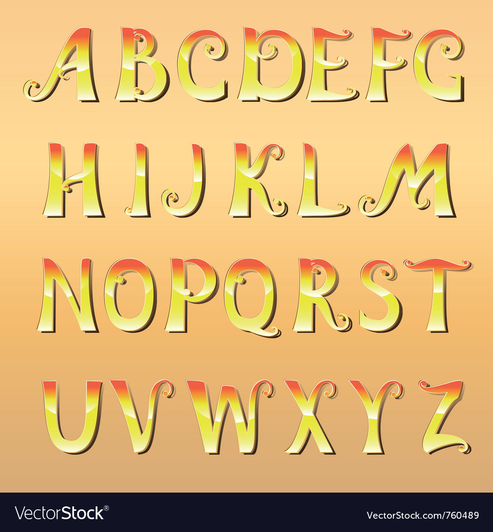Font cheerful sunny vector | Price: 1 Credit (USD $1)