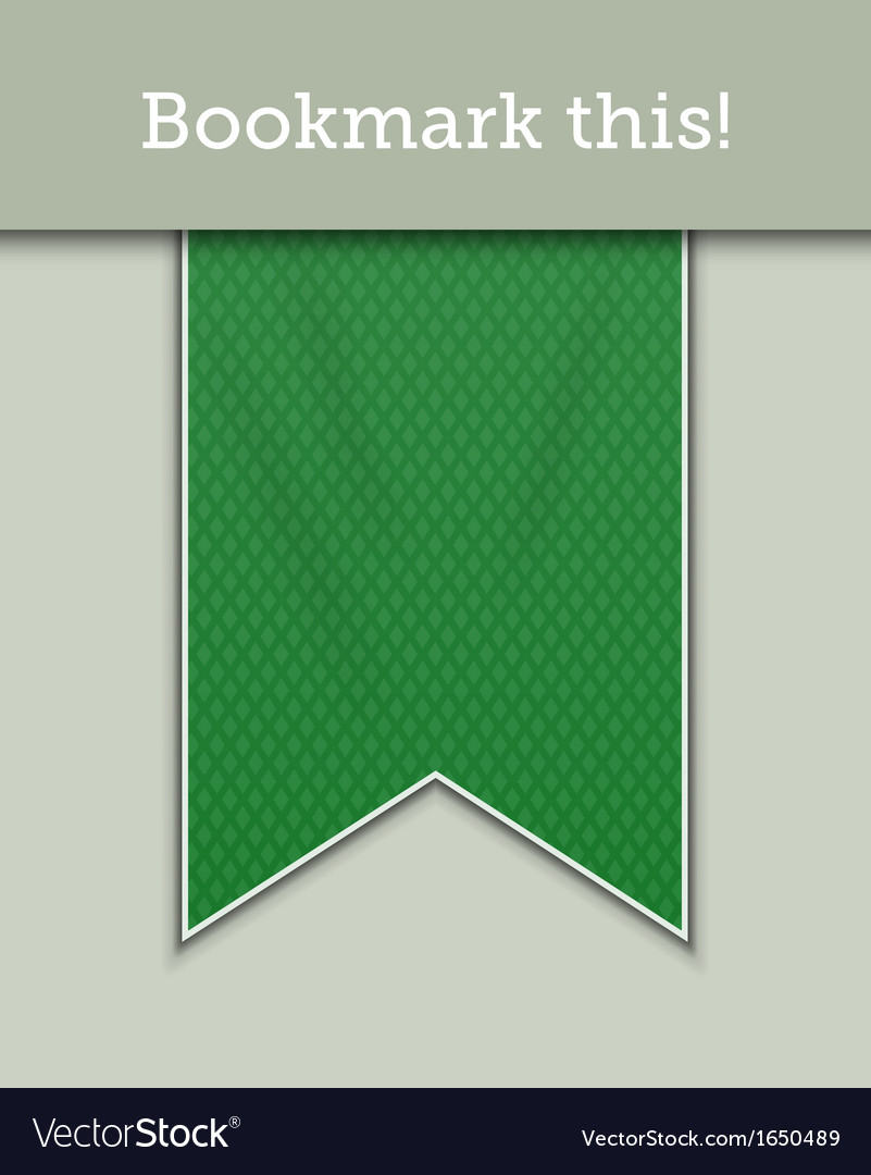 Green bookmark decoration ribbon vector | Price: 1 Credit (USD $1)