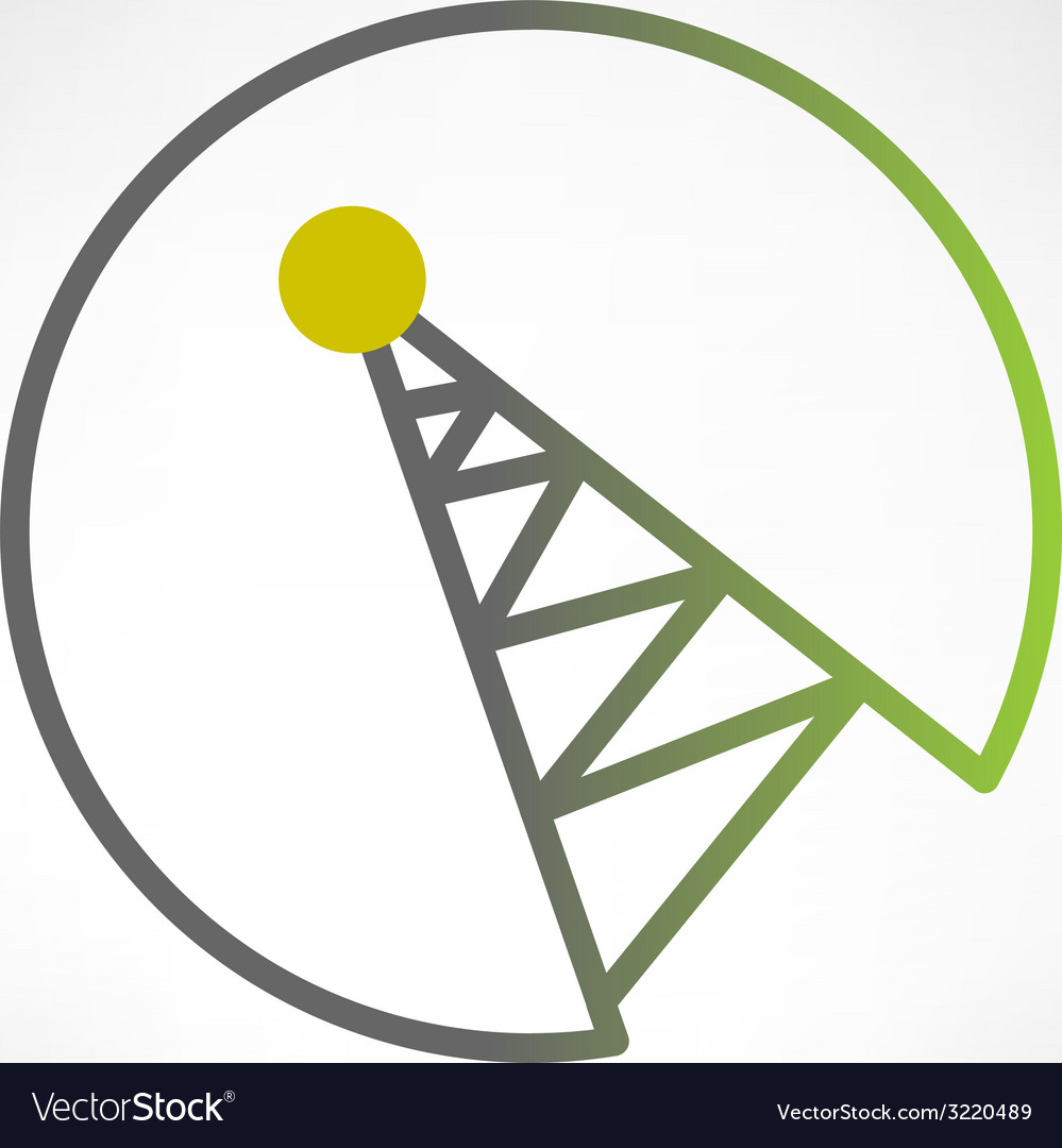 Mobile signal tower station made in modern flat vector | Price: 1 Credit (USD $1)