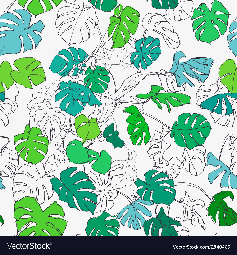 Tropical seamless vector | Price: 1 Credit (USD $1)