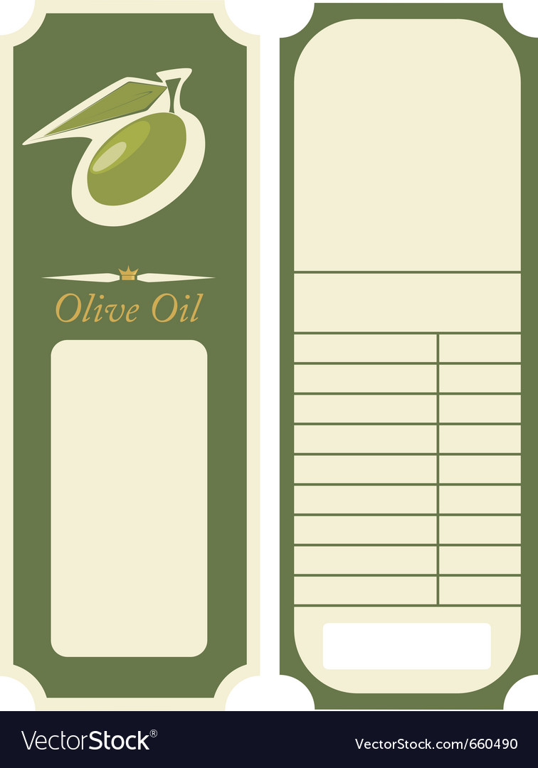 - olive oil label template vector | Price: 1 Credit (USD $1)