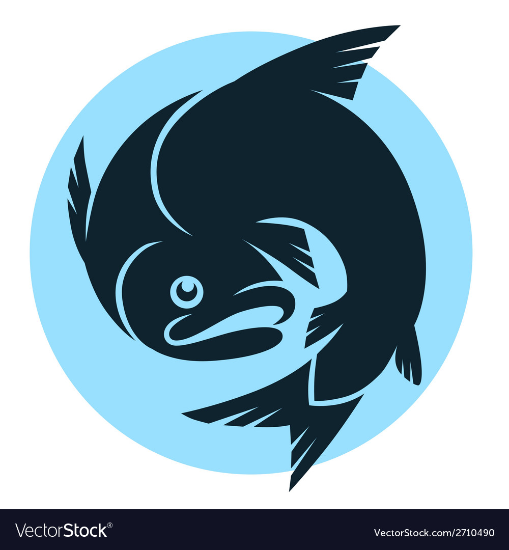 Abstract fish sign vector