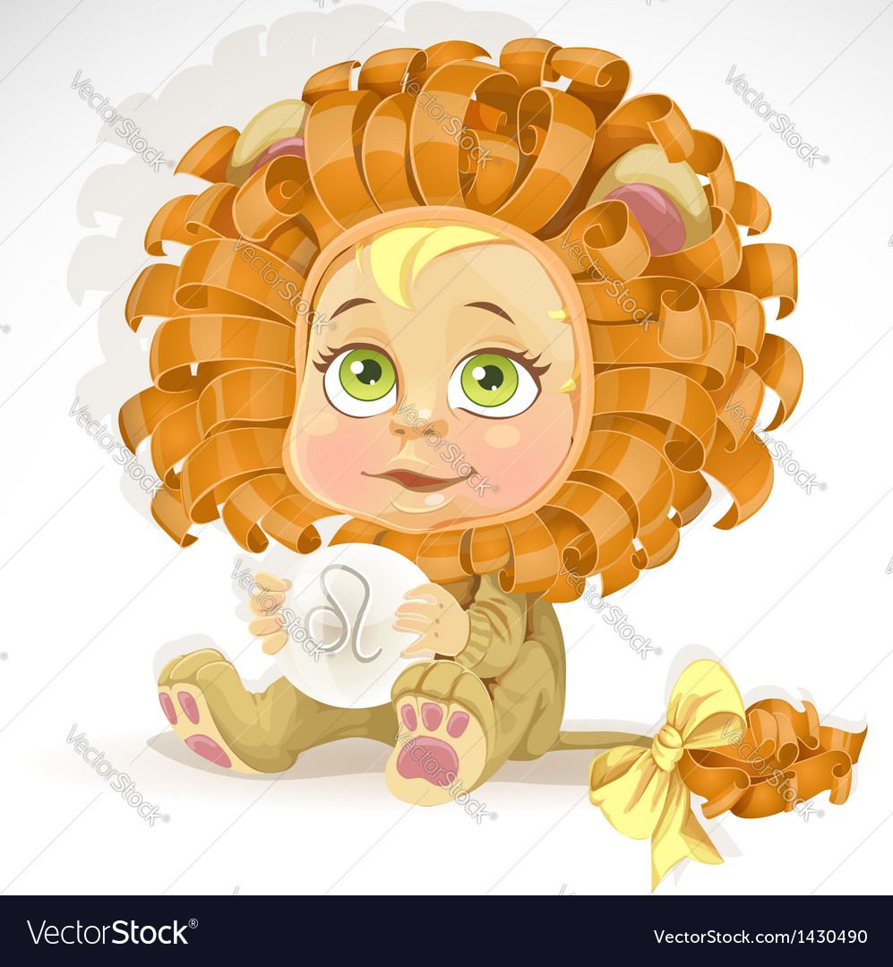 Baby zodiac - sign leo vector | Price: 3 Credit (USD $3)