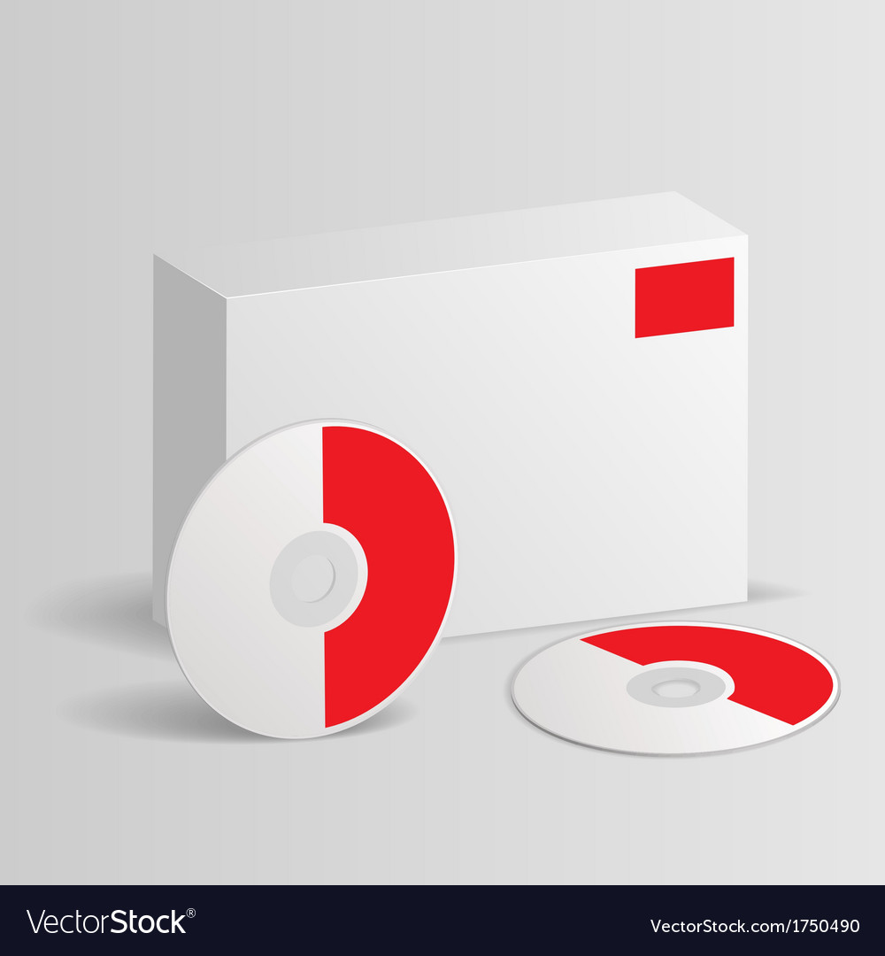 Blank software box with disc vector | Price: 1 Credit (USD $1)