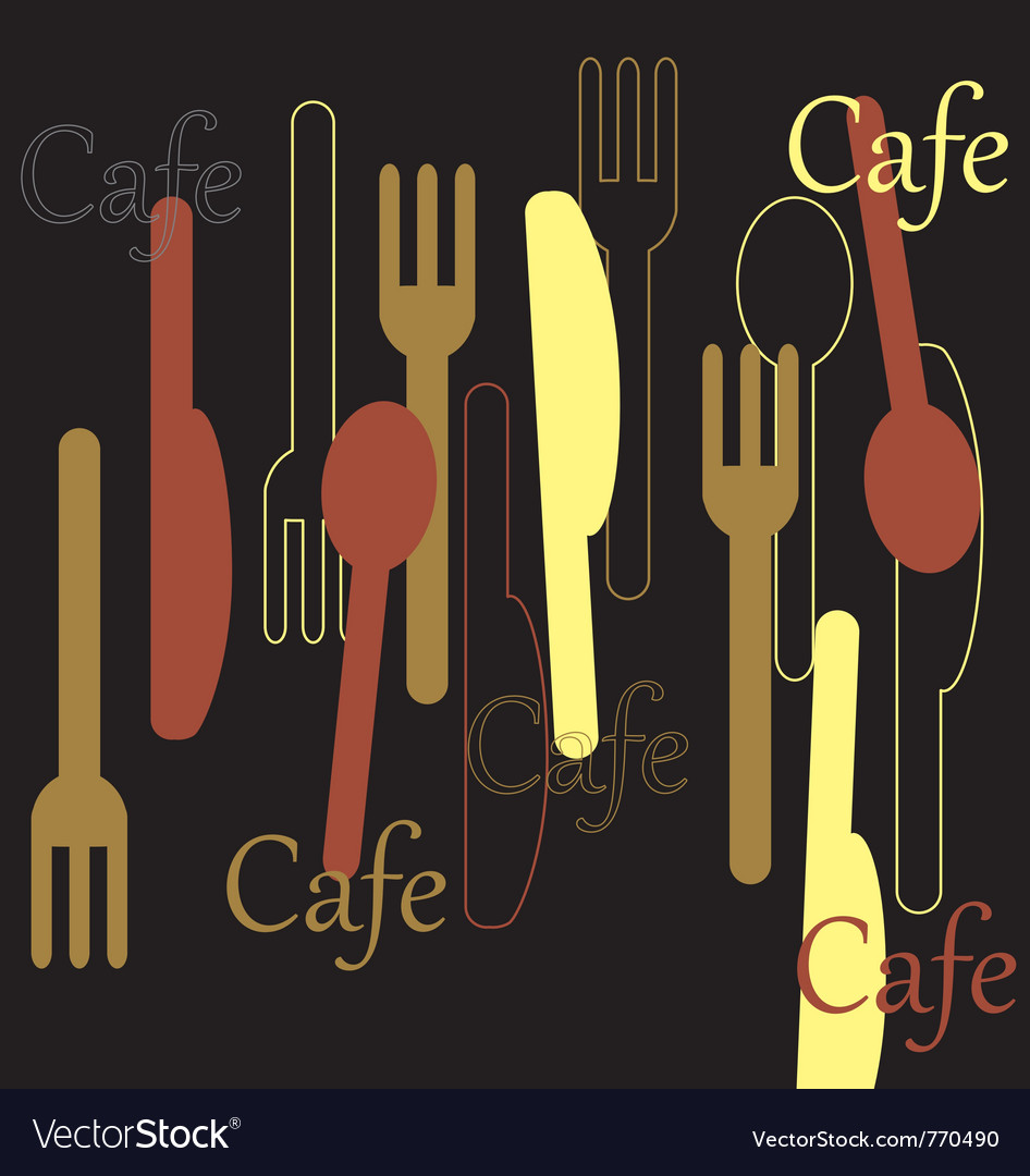 Cafe pattern vector | Price: 1 Credit (USD $1)