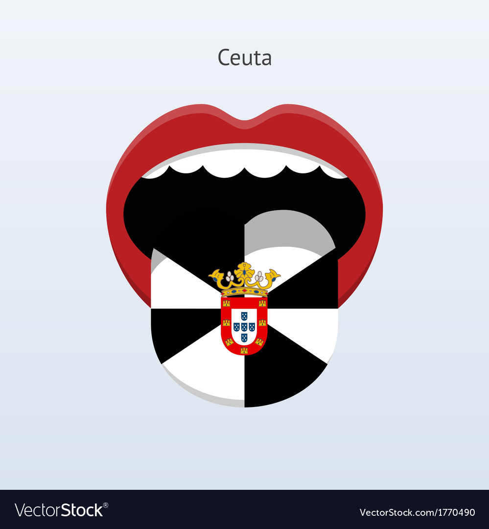 Ceuta language abstract human tongue vector | Price: 1 Credit (USD $1)