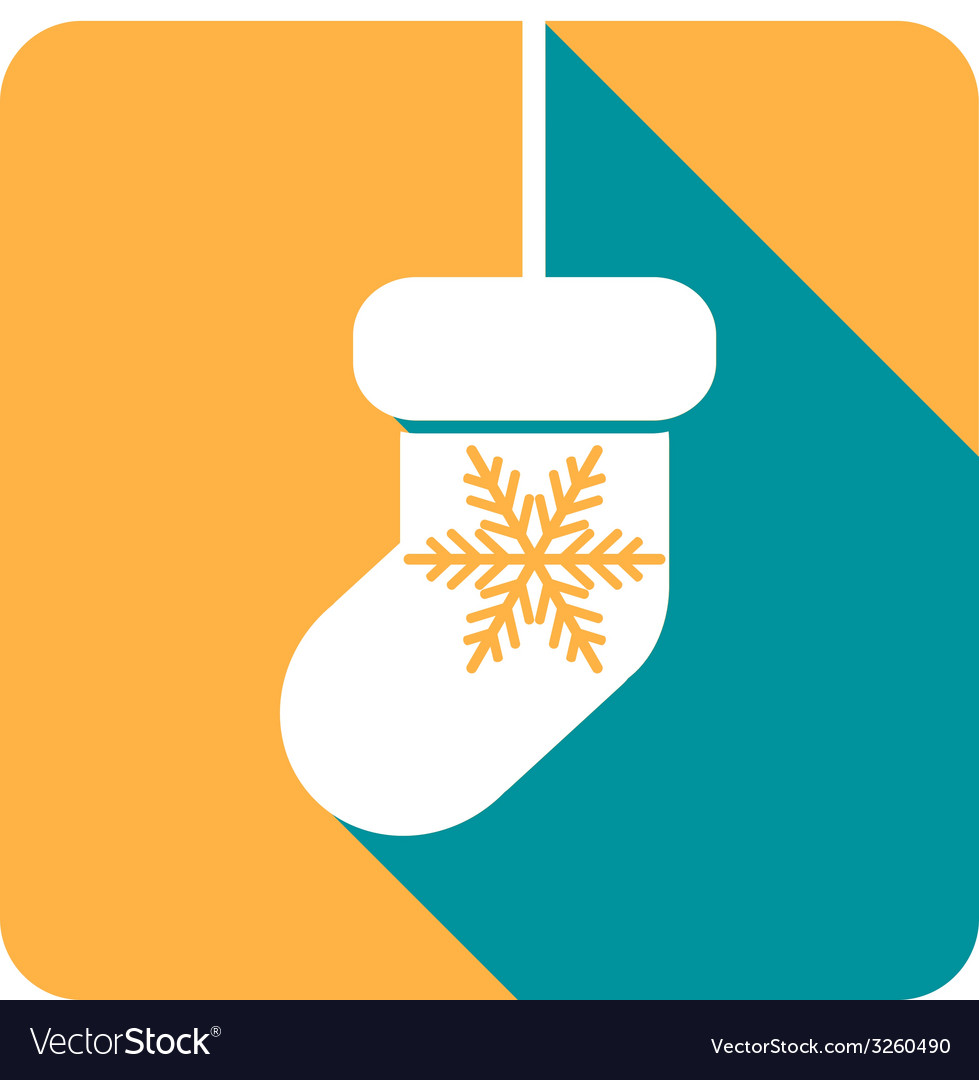 Flat colored simple christmas elements vector | Price: 1 Credit (USD $1)