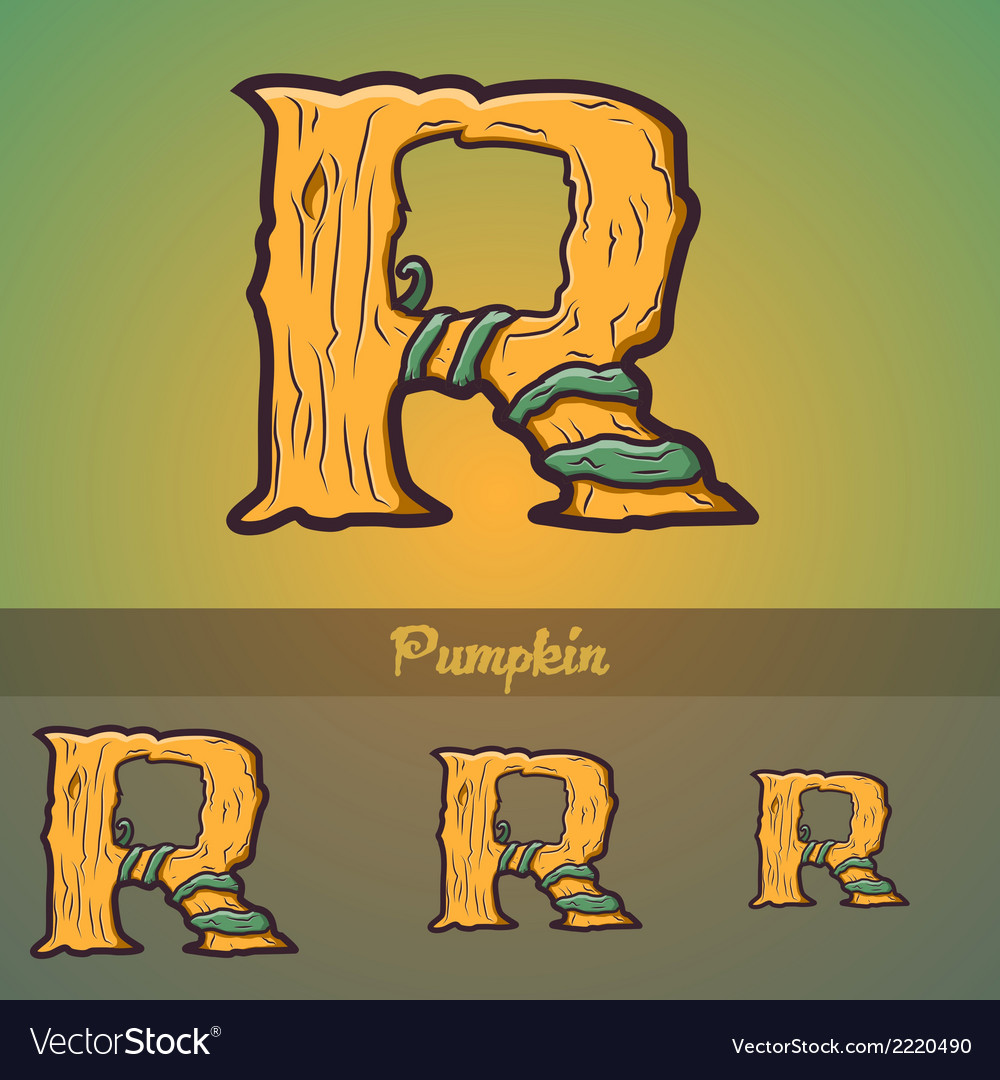 Halloween decorative alphabet - r letter vector | Price: 1 Credit (USD $1)