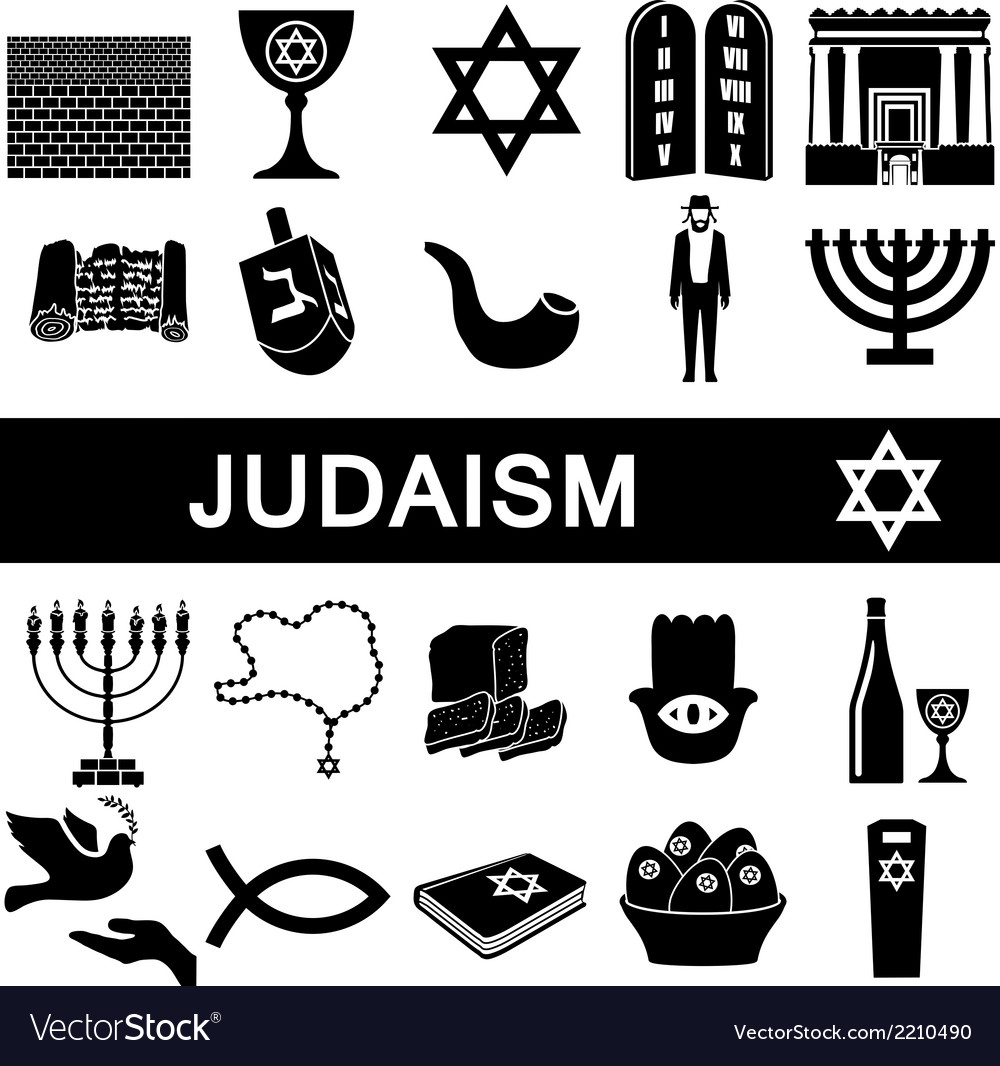 Icons for judaism vector | Price: 1 Credit (USD $1)