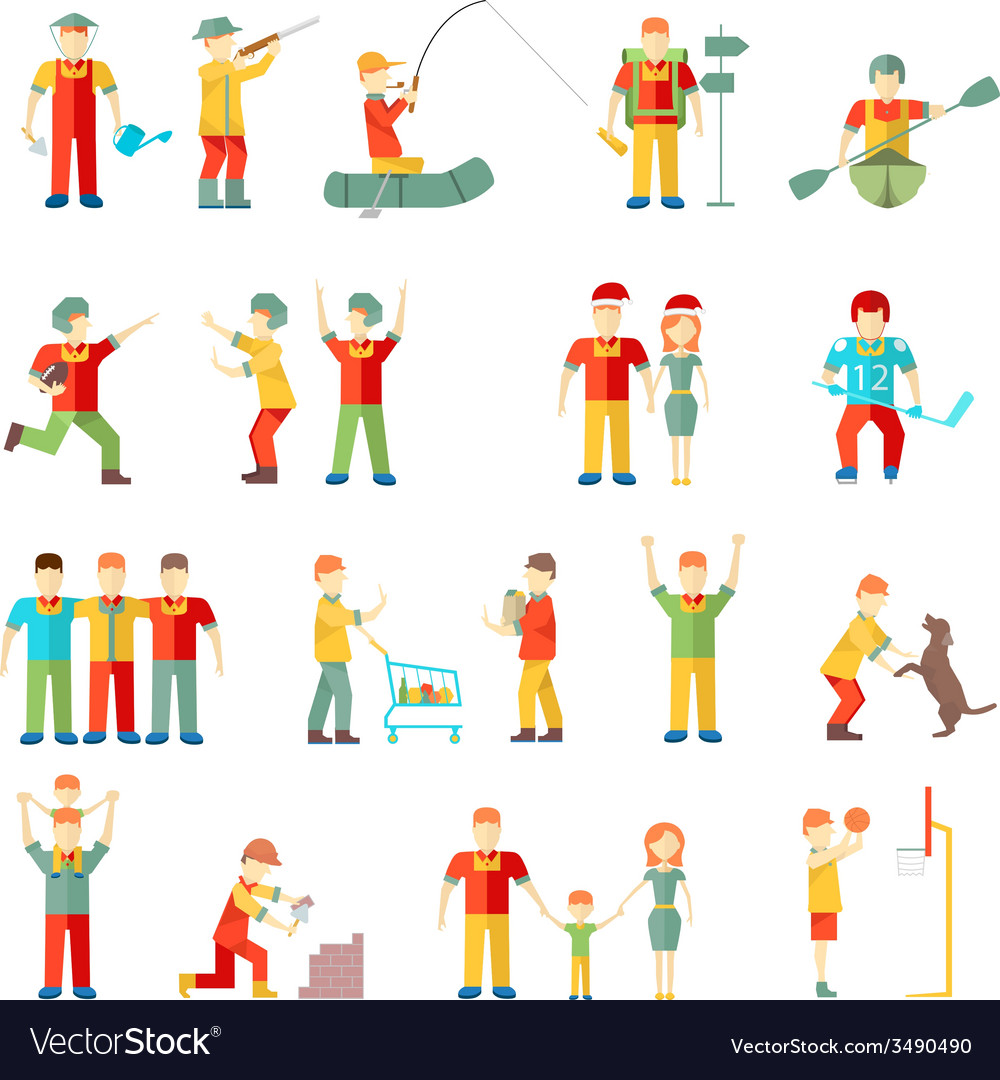 People in different situations friends vector | Price: 1 Credit (USD $1)