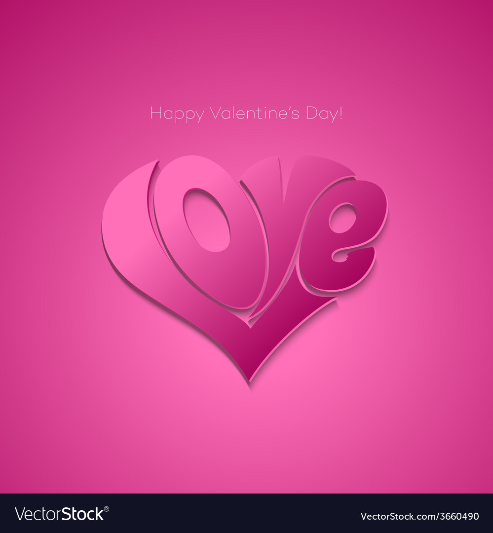 Valentines card with lettering vector | Price: 1 Credit (USD $1)