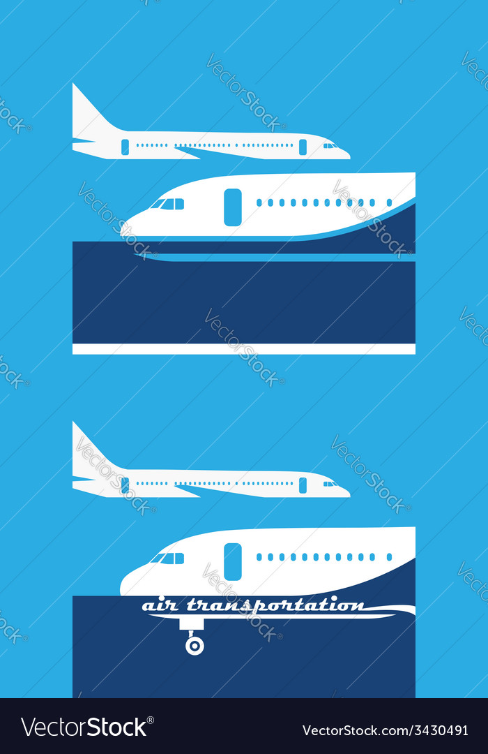 Air transportation vector | Price: 1 Credit (USD $1)