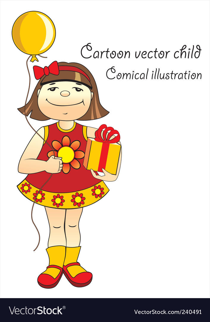 Cartoon child vector | Price: 1 Credit (USD $1)