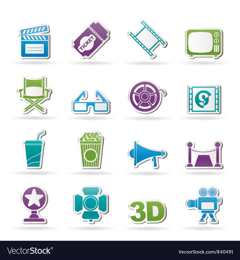 Cinema and movie icon vector | Price: 1 Credit (USD $1)