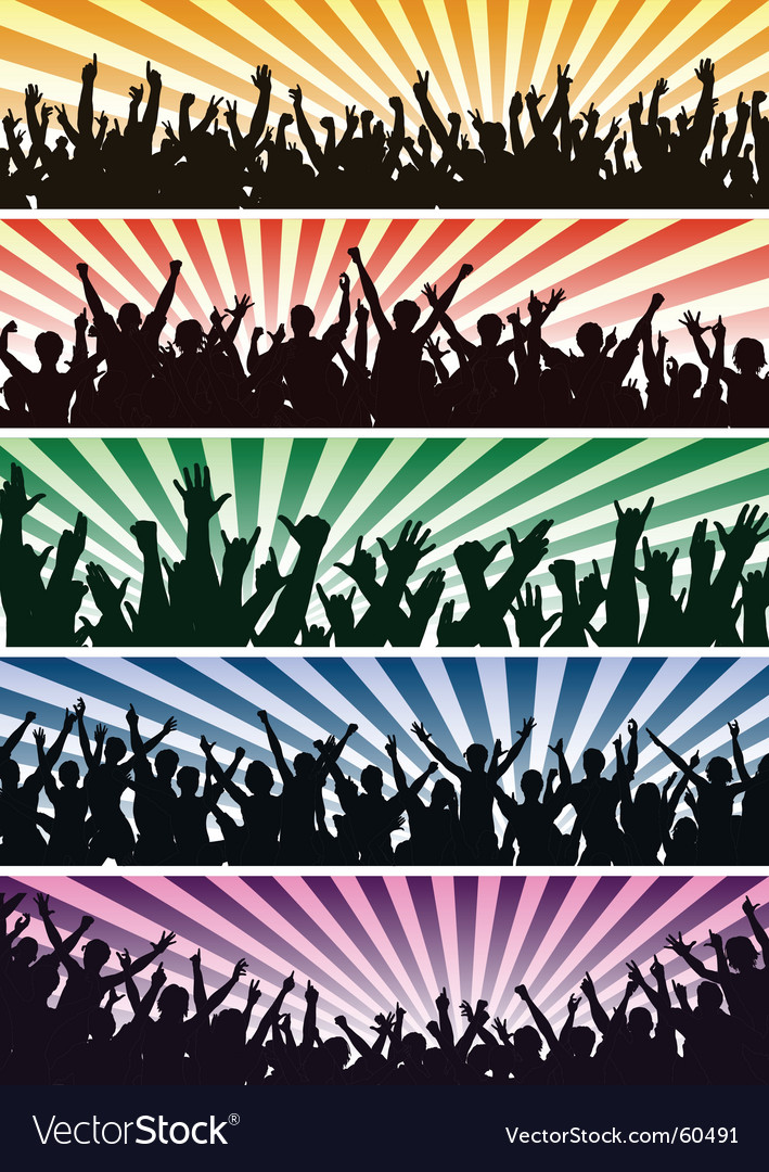 Concert crowds vector | Price: 1 Credit (USD $1)