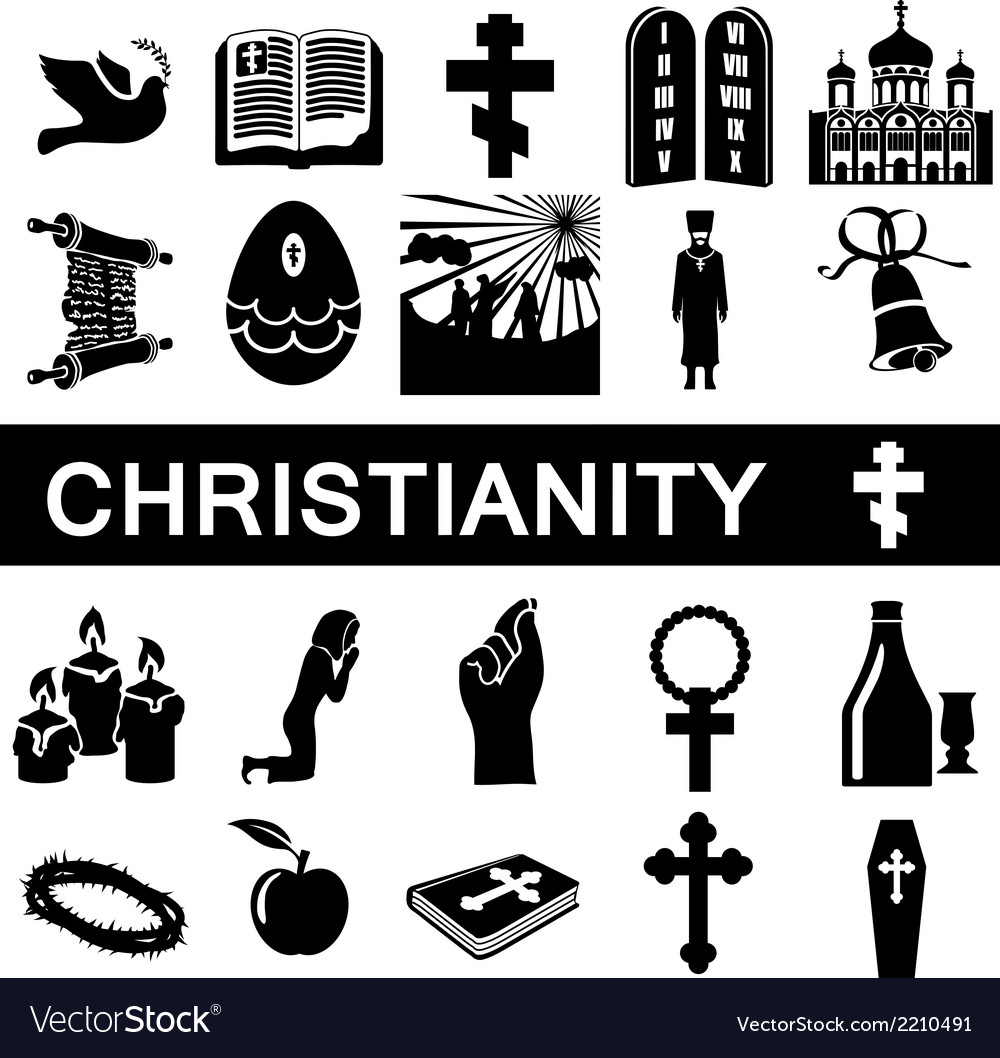 Icons for christianity vector | Price: 1 Credit (USD $1)