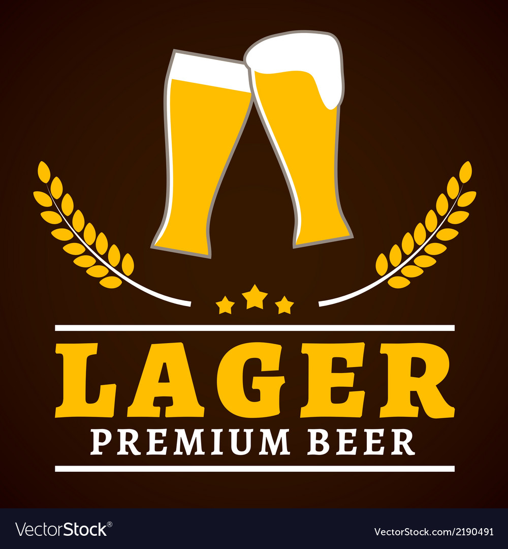 Lager beer poster vector | Price: 1 Credit (USD $1)