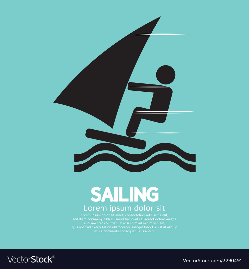 Sailing sport symbol vector | Price: 1 Credit (USD $1)