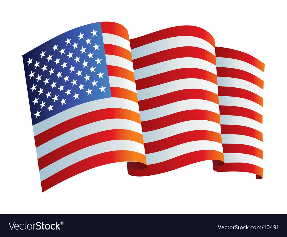 United states flag vector | Price: 1 Credit (USD $1)