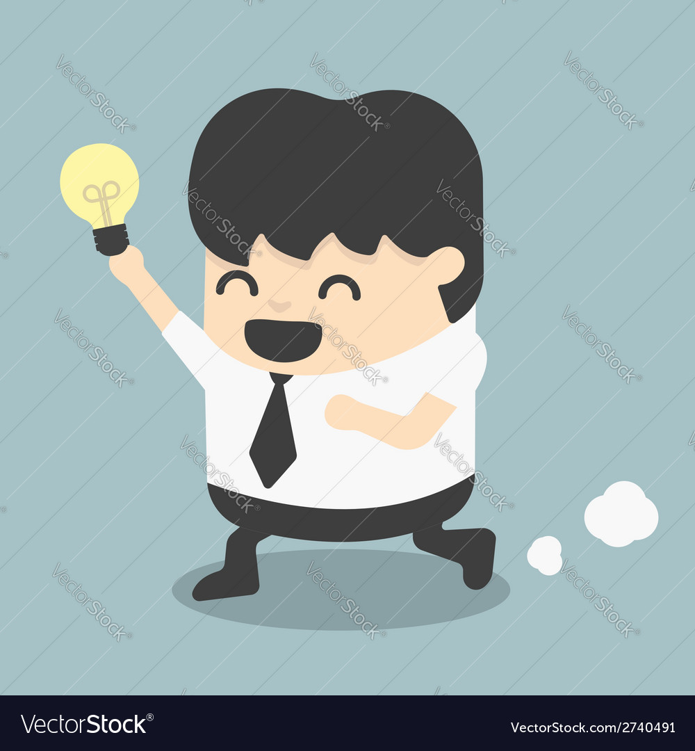 Young business run show idea vector | Price: 1 Credit (USD $1)