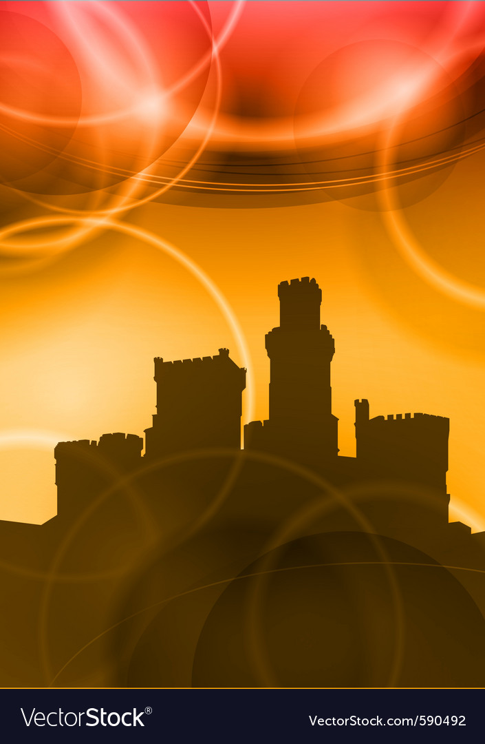 Castel sunset vector | Price: 1 Credit (USD $1)