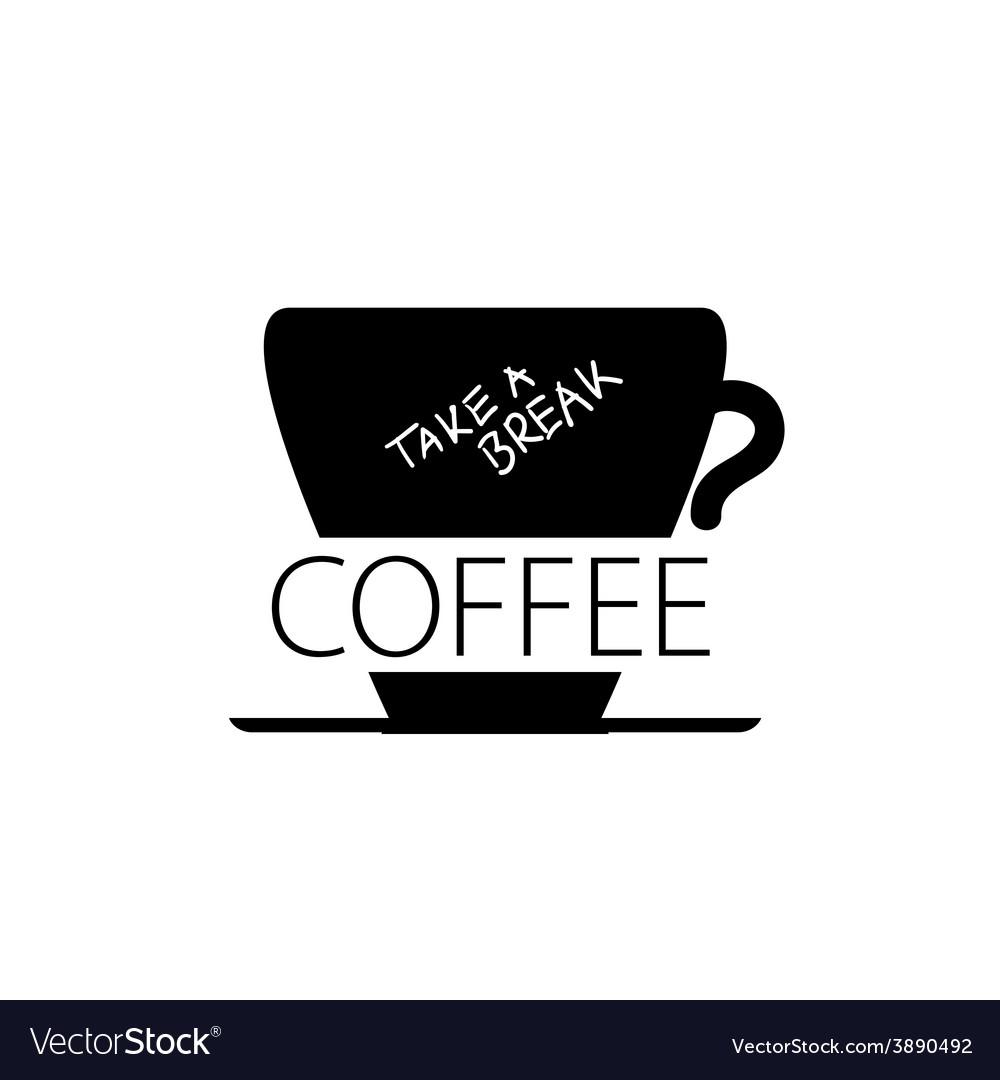 Coffee break cup black vector | Price: 1 Credit (USD $1)